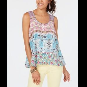 STYLE&CO PRINTED SWING TANK TOP